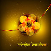 Beautiful raksh bandhan card hindu festival background vector — Stock Vector