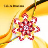 Raksha Bandhan colorful rakhi background wave vector illustratio — Stock Vector