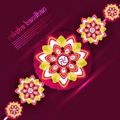 Beautiful Raksha bandhan festival rakhi background vector illust — Stock Vector