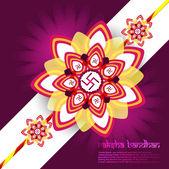Raksha bandhan festival Beautiful card background illustration — Stock Vector