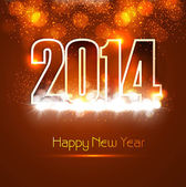 Beautiful Happy new year 2014 bright colorful celebration backgr — Stockvektor