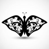 Artistic styles butterfly tatto art vector illustration — Stock Vector