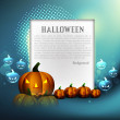 Halloween colorful pumpkins Party card vector illustration — Stock Vector