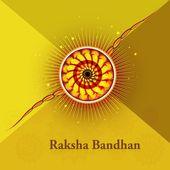 Raksha Bandhan beautiful card design vector — Stock Vector