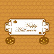 Happy Halloween greeting card colorful pumpkins party vector ill — Stock Vector