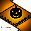 Halloween party colorful card vector illustration design — Stock Vector