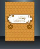 Happy Halloween card brochure reflection design vector — Stock Vector