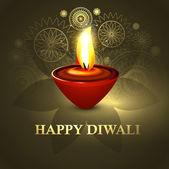 Joyeux diwali diya belle coloré festival hindou de fond j'ai — Vecteur