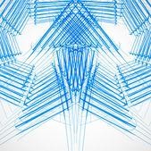 Stylish blue outline sketch arrows Vector design illustration — Stock Vector