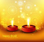 Beautiful happy diwali colorful hindu festival glittering religi — Stock Vector