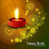 Beautiful diwali colorful art background vector illustration — Stock Vector