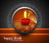 Krásné náboženské pozadí design diwali festival vektor — Stock vektor