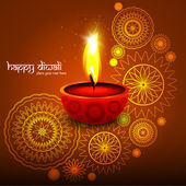 Diwali background colorful design vector illustration — Stock Vector