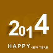 Fantastic New year colorful background 2014 stylish vector — Stock Vector