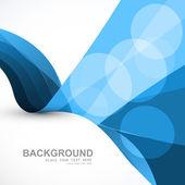 Negocio abstracto azul onda colorido diseño vectorial — Vector de stock