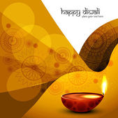 Diwali diya festival colorful design wave vector — 图库矢量图片