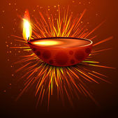 Diwali diya holiday background colorful vector illustration — 图库矢量图片