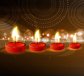 Diwali oil lamp colorful fantastic design vector — ストックベクタ