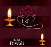 Beautiful Hindu Lord Ganesha colorful vector illustration — Stock Vector