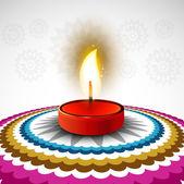 Beautiful Happy diwali colorful rangoli design — Stock Vector