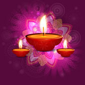 Beautiful vector diwali greeting card background design — Stock Vector