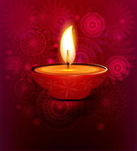 Darstellung der eingerichteten diwali diya farbigen hintergrund — Stockvektor