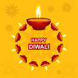 Stock Vector: Diwali illuminating Diyfor Hindu festival Beautiful design