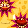 Stylish colorful diwali diya creative background vector — Stock Vector