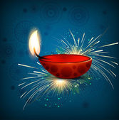 Beautiful diwali greeting card colorful design vector — Stockvector