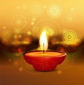 Diwali background colorful artistic vector illustration — Stockvector