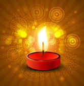 Beautiful diwali lamp colorful vector background illustration — Stockvektor