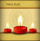 Greeting card beautiful diwali vector design — Stockvector
