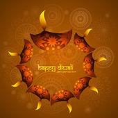 Diwali illuminating Diya for Hindu festival beautiful background — Stock Vector