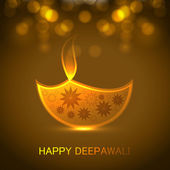 Diwali festival Greeting card colorful background illustration — Stockvektor