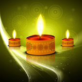 Diwali hindu festival colorful vector design — Stock Vector