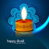 Beautiful Happy Diwali blue bright colorful background vector — Wektor stockowy