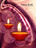 Diwali diya beautiful artistic design — ストックベクタ