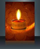 Diwali brožura šablona festivalu barevné vektorové — Stock vektor