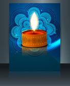Diwali festival brochure template design — Vector de stock