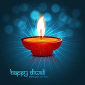 Beautiful vector colorful diwali background design illustration — Stockvector