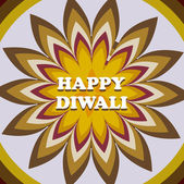 Beautiful card diwali rangoli colorful pattern design vector — Wektor stockowy
