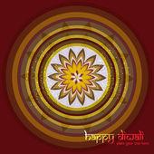 Diwali rangoli culture Art colorful ornament Pattern vector illu — Stock Vector