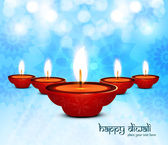 Beautiful colorful design diwali background vector — Stock Vector