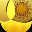 Beautiful Artistic diwali diya celebration card festival backgro — Stock vektor