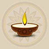 Beautiful diwali card vector illustration — Stock Vector