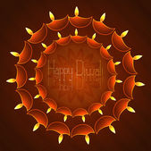 Beautiful vector background diwali colorful card illustration — Stock Vector