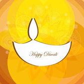 Beautiful Artistic diwali festival colorful vector background — Vector de stock