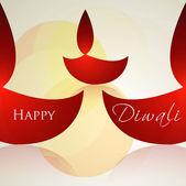 Celebration diwali card colorful vector background — Stock Vector