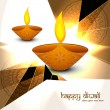 Beautiful colorful religious abstract diwali diya background — Stock Vector #34244347