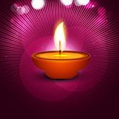 Vektorové elegantní veselé diwali festival s krásnou Tomáš — Stock vektor